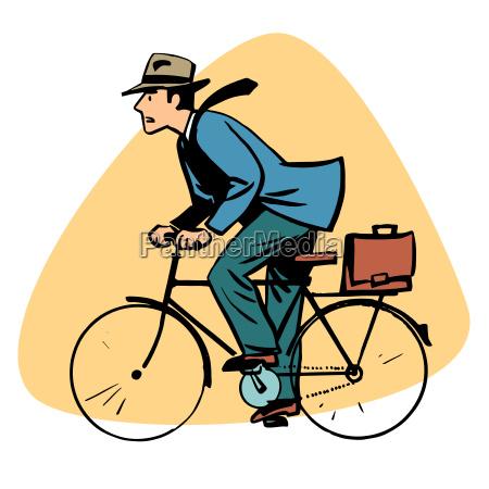 geschaeftsmann fahrradfahren geschaeftsleute konzept charakter