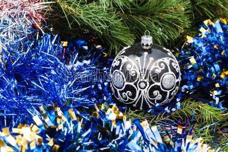 schwarzglas weihnachtskugeln tuell xmas baum 3