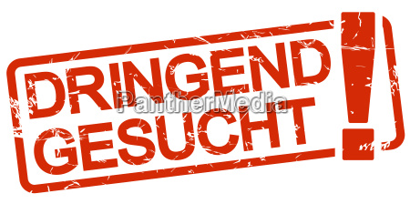 red stamp dringend gesucht