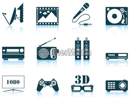 set von multimedia symbol