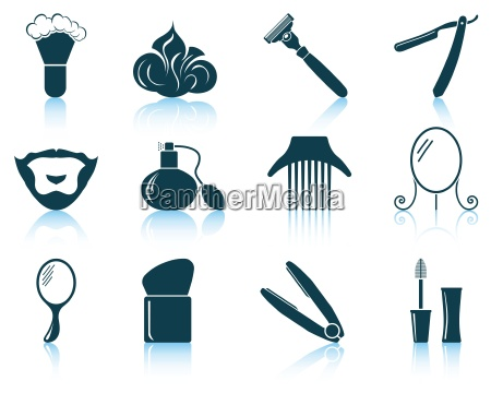 set of barber icons