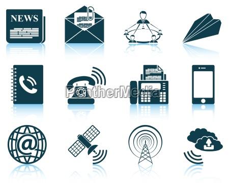 set von kommunikations symbole