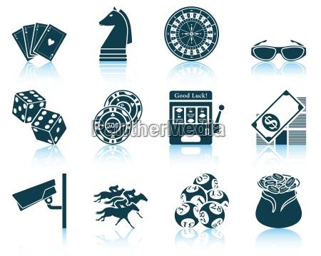set von casino symbole