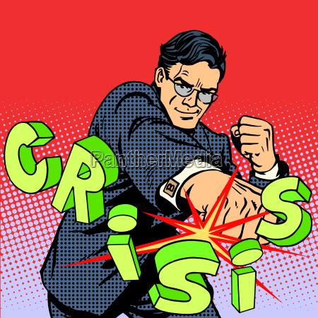 supergeschaeftsmann held gegen die krise business