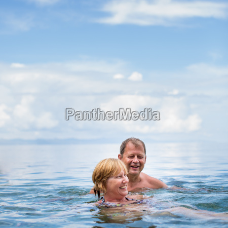senior couple enjoying the retirement on