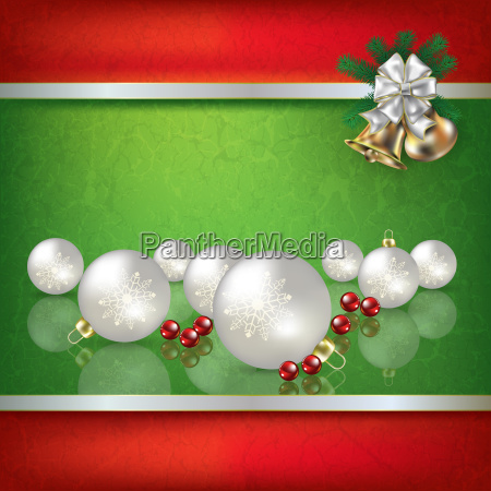 abstract grunge green background with christmas