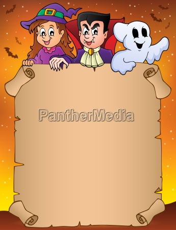 parchment with halloween topic 9