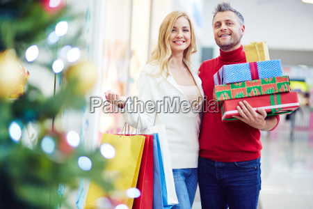 couple with presents