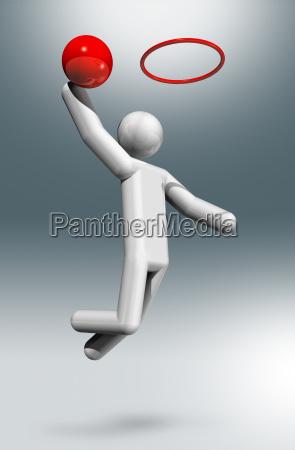 basketball 3d symbol olympische sportarten