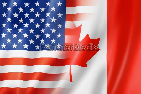 usa und kanada flagge