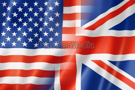 usa und grossbritannien flagge