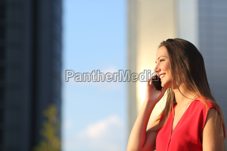 business woman talking on the mobile