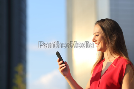 business woman using a smart phone