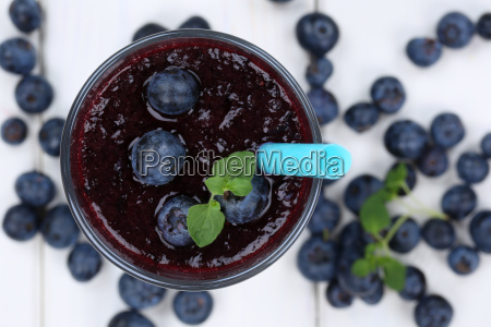 blueberry smoothie juice milkshake with blueberries