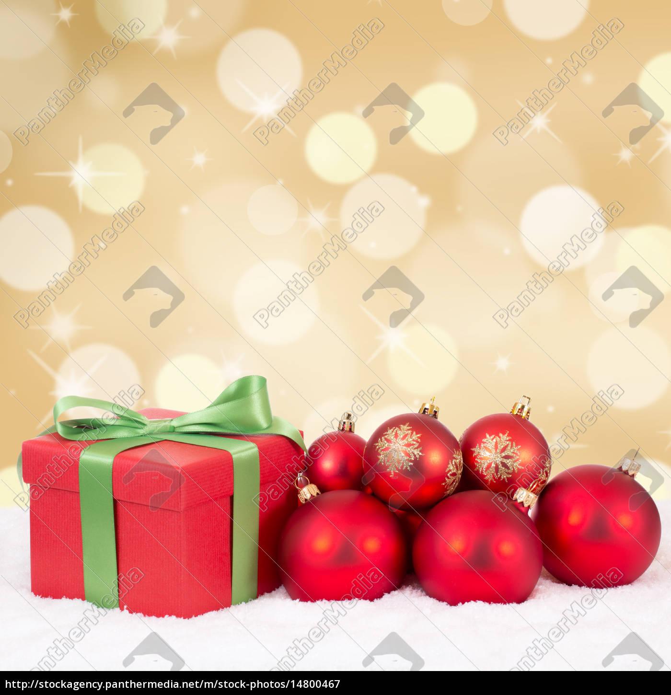 Weihnachten Weihnachtsgeschenke Geschenke mit gold - Stockfoto ...