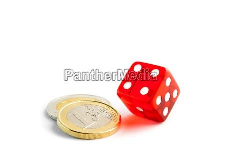 euro muenze in der naehe der