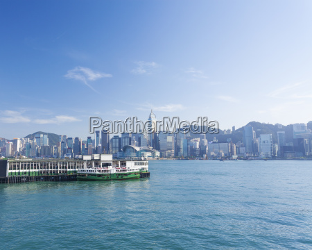 view of victoria harbour in hong