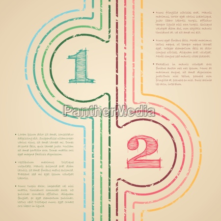 abstract grunge lines infographic design