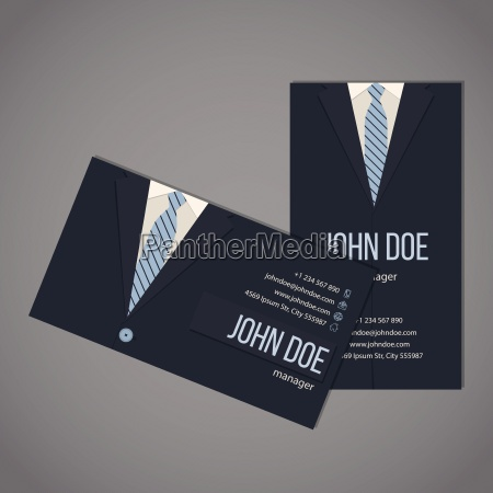 business suit business card template