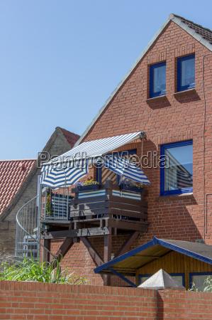 house with a nice balcony