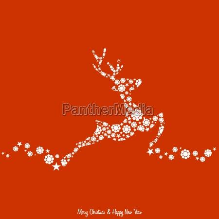 weihnachten hintergrund mit rentier dekoriert vintage