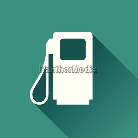 fuel pump flat design icon