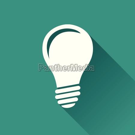 lightbulb flat design icon