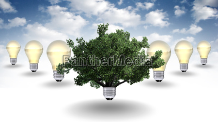 erneuerbare energie konzept gruene energie symbol