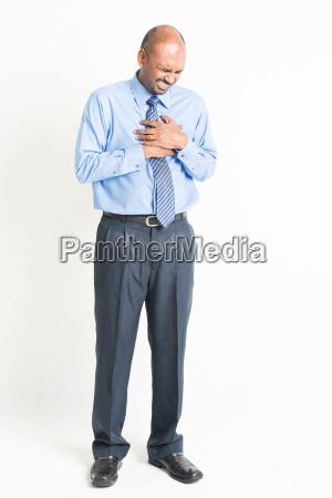 full body mature indian man heartache