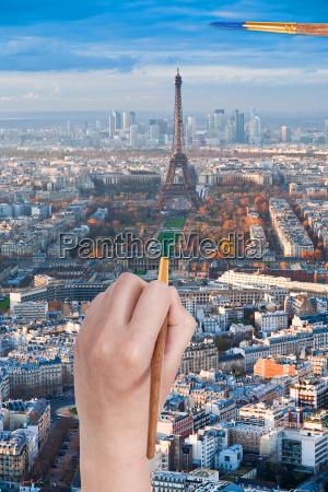 paintbrush paints in green colour champ