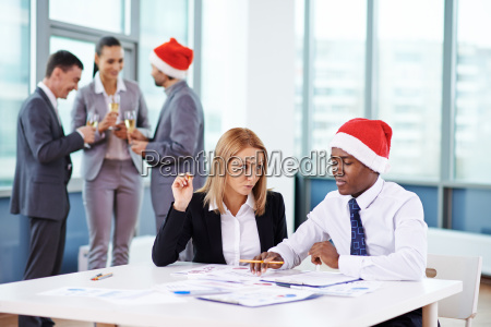 christmas eve in office