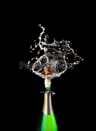 popping champagner