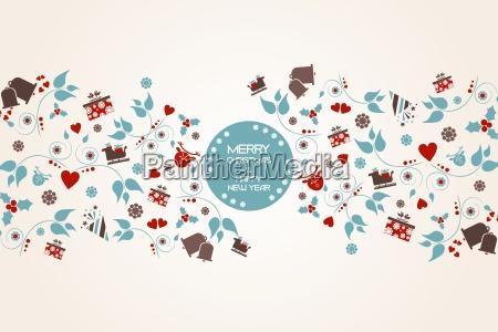 vintage christmas hintergrund mit floralen und