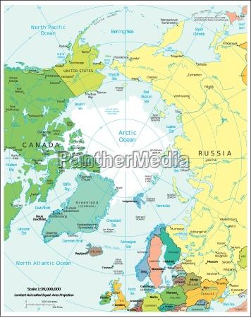 arktis karte