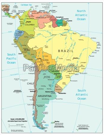 suedamerika region karte