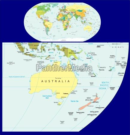ozeanien region karte