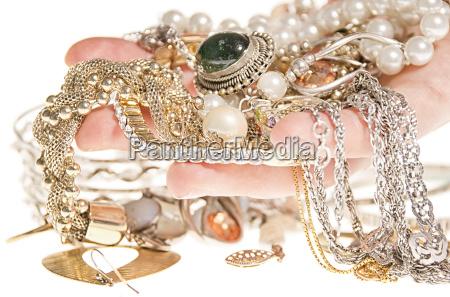 jewelry on hand