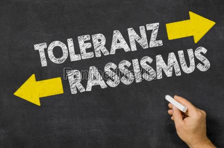 toleranz oder rassismus