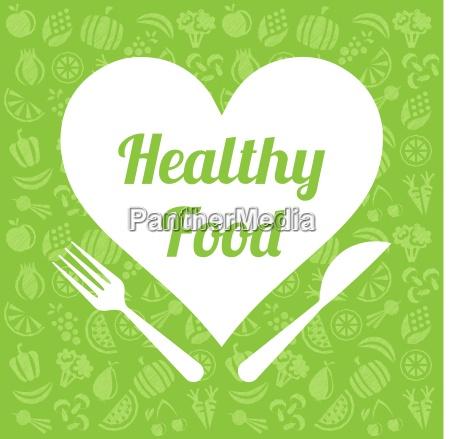 healthy food vector background