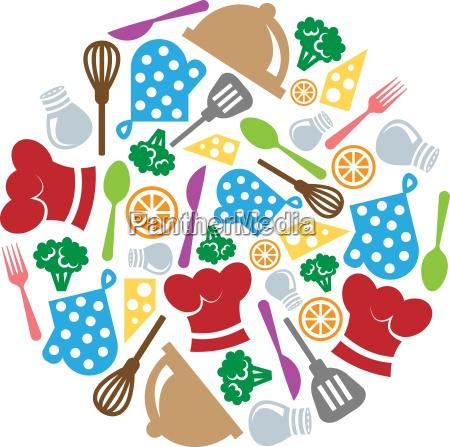 kitchen and restaurant icon vector