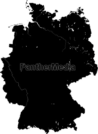 germany map silhouette