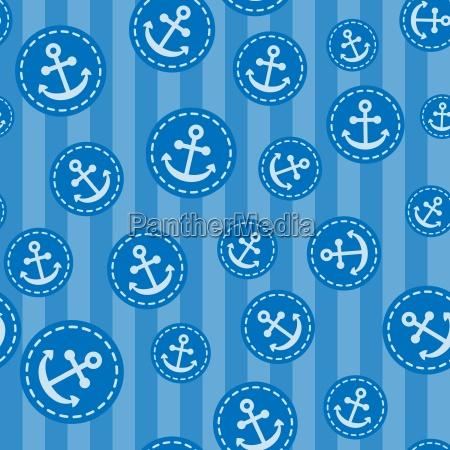 seamless anchor pattern vector illustration