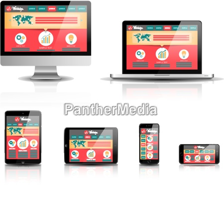 responsive web design devices vector