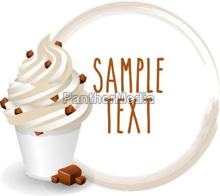 soft ice cream cup stracciatella variety