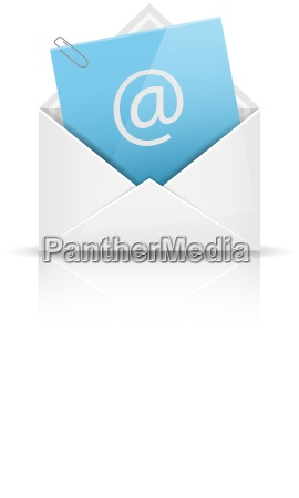 e mail icon mit anhang briefumschlag