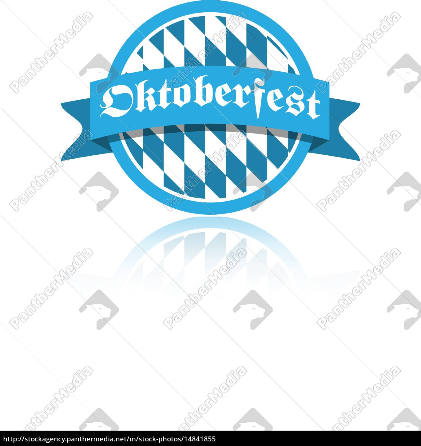 oktoberfest, vektor, illustration, button - 14841855
