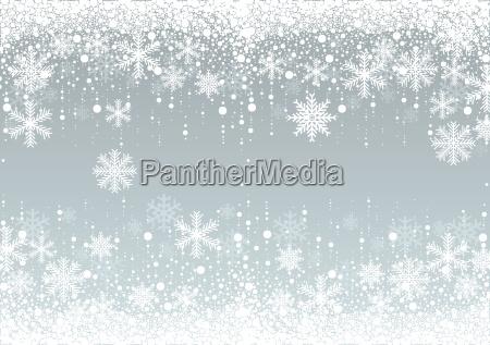 platki sniegu zima w tle