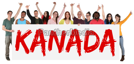 canada multicultural group of young people