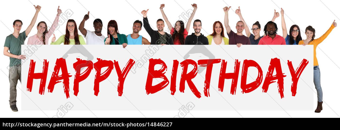 happy, birthday, geburtstag, multikulturell, gruppe, junge - 14846227