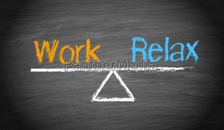 work and relax balance concept